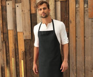 Full bib apron no pockets