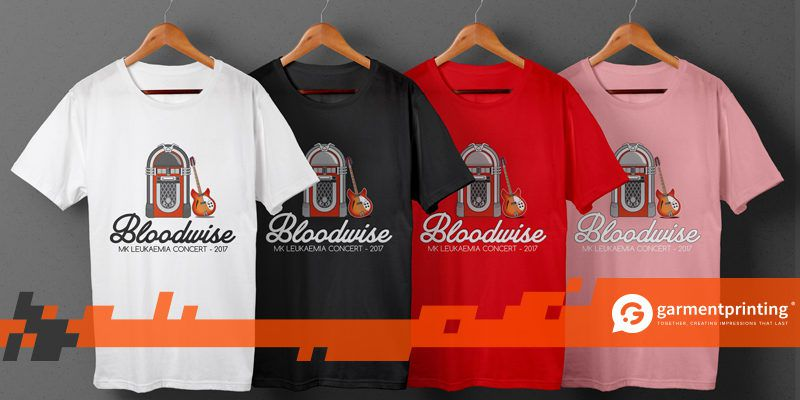 Printed T-shirts for MK Bloodwise Leukaemia Concert - Header Image