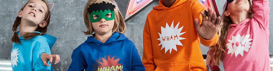 Personalised Kids' Hoodies - Header Image